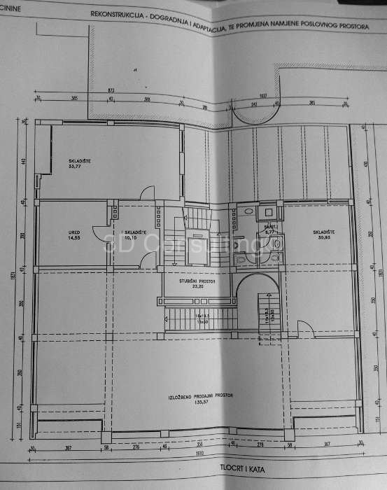 Floor plan 1st floor Vlaška