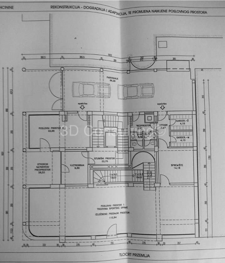 Floor plan Ground floor Vlaška