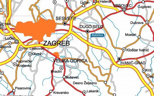 Rugvica business zone building land plot, Rugvica poslovna zona građevinsko zemljište, 3D Consulting